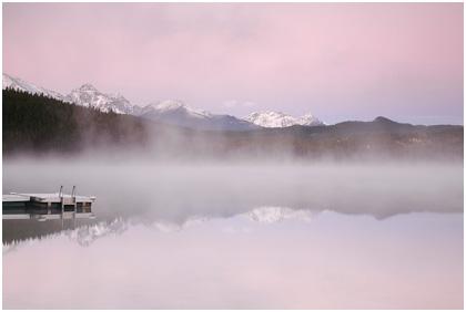 Gorgeous morning glow at patricia lake